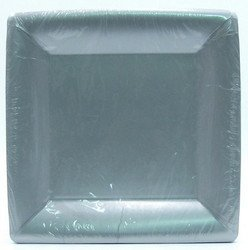 "10 1/4"" Silver Square Paper Plates 20 per pack"
