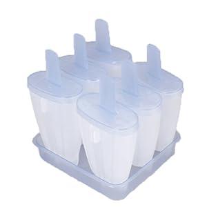 Set of 6 Ice Cream Maker Mold Ice Pop Mold Popsicle Maker