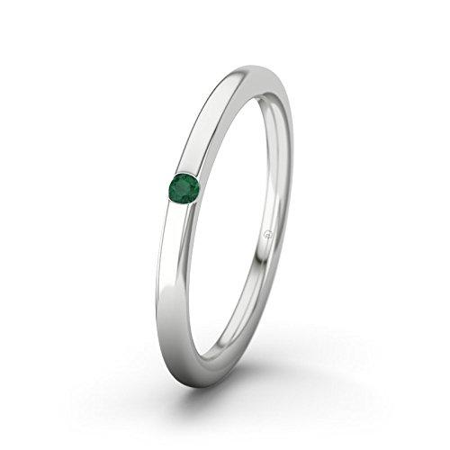 21DIAMONDS Piraeus Women's Ring Emerald Cut Engagement Ring, 18ct White Gold Engagement Ring