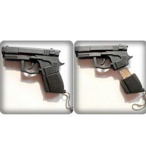 High Quality 4 GB Gun Shape USB Flash Memory Drive by T &  J