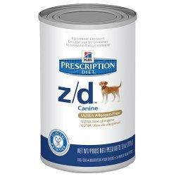 Hills Z/D Ultra Allergen-Free Dog Food 12 13-Oz Cans