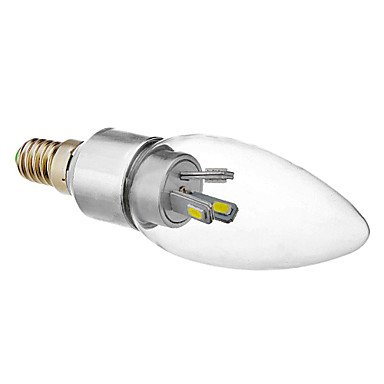 Glühbirne, E14, 3W, 6 x 5630 SMD Glühbirne, 6000 K, kaltweiß, LED, Kerze