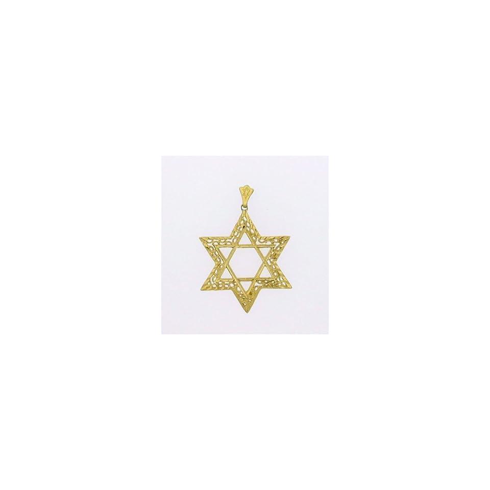 14K Gold Extra Large Star of David