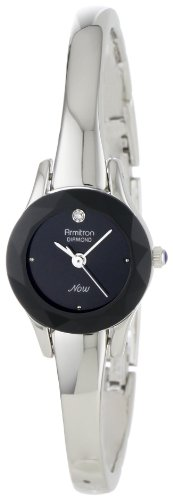 armitron-womens-75-2433blk-diamond-accented-silver-tone-bangle-watch