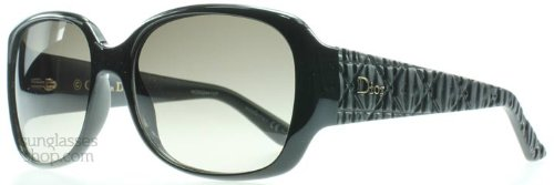 Christian Dior  Dior BIL Shiny Black Frisson 2 Square Sunglasses Lens Category 2
