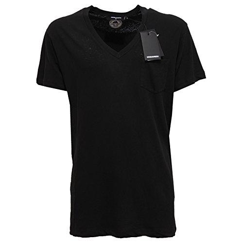 2748Q maglia uomo DSQUARED D2 EVERGREEN nero t-shirt men [XL]