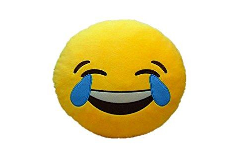 LAUGH-TO-TEAR-Emoji-Pillow-Smiley-Emoticon-Yellow-Round-Cushion-Stuffed-Plush-Soft-ToyPoopPinkpoopMonkeyMoney-MouthCatHeart-EyeLaugh-to-TearSmirkingThrowing-KissTongueDevilNerd