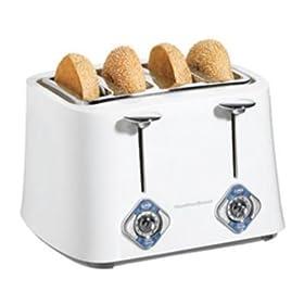 Hamilton Beach Extra Wide Slot 4 Slice White Toaster 586153
