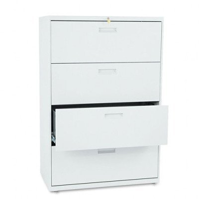 Hon 584Lq 500 Series 36 By 53-1/4 By 19-1/4-Inch 4-Drawer Lateral File, Light Gray