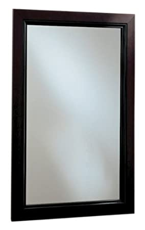 Robern PLW2030BBM PL Series Mahogany Beaded Wood Framed Cabinet, 19-1/4-Inch W by 30-Inch H by 3-3/4-Inch D, Black Interior