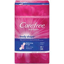 Carefree Acti-Fresh Body Shape Pantiliners Extra Long - 36 CT
