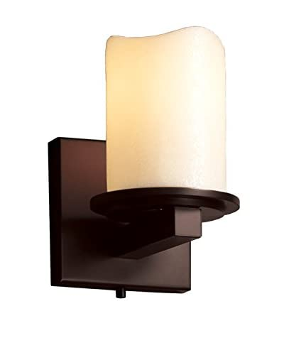 Justice Design Group CandleAria 1-Light Dakota Wall Sconce, Dark Bronze