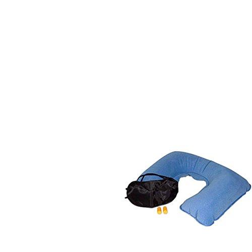 Relaxdays set da viaggio cuscino gonfiabile mascherina for Tappi orecchie per dormire