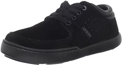 crocs Boys' Dashiell Leather Sneaker