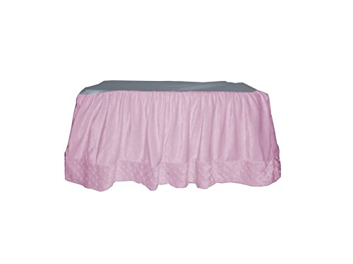 Baby Doll Heavenly Soft Crib Dust Ruffle, Pink - 1