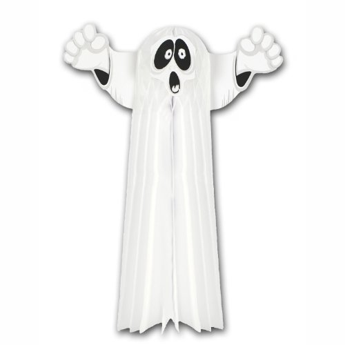 Tissue Hanging Ghost Party Accessory (1 count) (1/Pkg)