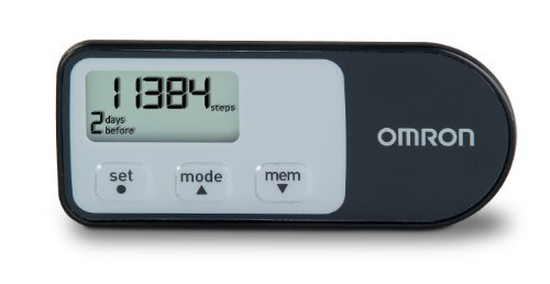 B00OZ9TIW8 Omron HJ-321 Tri-Axis Pedometer, Black, Pack of 2