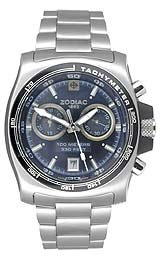 Zodiac Men's Sea Dragon Black Dial Silver Tone Bracelet Watch - ZO7500