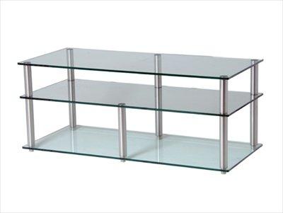 GEM Slender 3 shelf clear Hifi/TV Stand 800x400