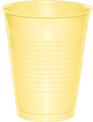 Creative Converting 28102081 20 Count Touch of Color Plastic Cups, 16 oz, Mimosa