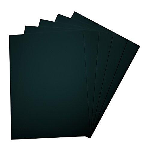 Folia 23590 - Moosgummi 29 x 40 cm, 5 Bogen, schwarz