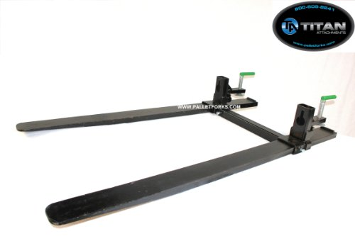 Tractor Steering Bar : Hd forged clamp on pallet forks with stabilizer bar for