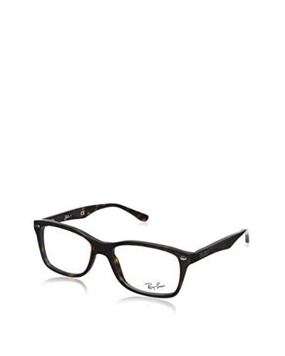 Ray-Ban Women's RX5228 Square Eyeglasses, Dark Havana