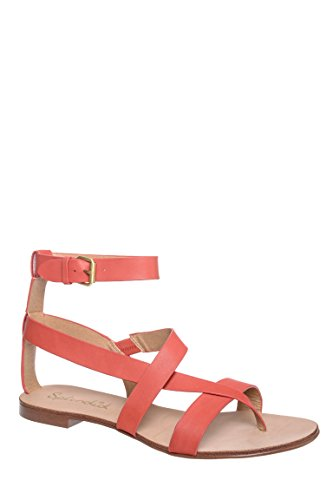 Crete Ankle Strap Low Heel Sandal