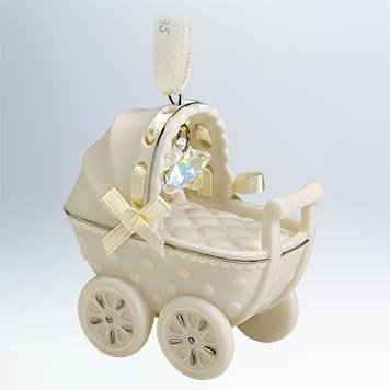 Hallmark 2011 Babys First Christmas Buggy Porcelain - QXG4149 - 1