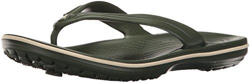 Crocs Crocband Flip U Infradito e Ciabatte da Spiaggia, Unisex Adulto, Verde,  42/43