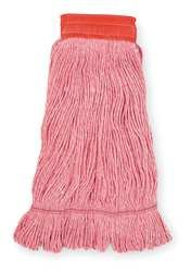 Tough Guy 1TYY2 Wet Mop, Antimicrobial, Large, Red
