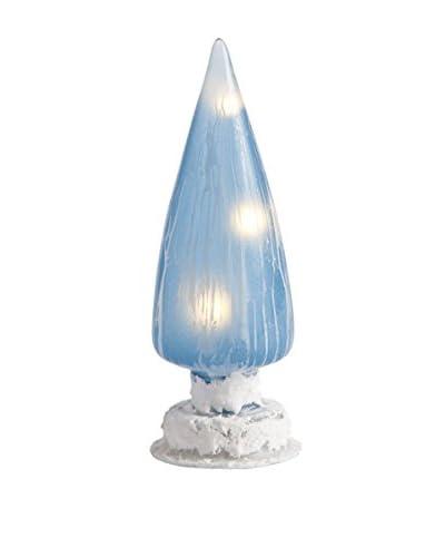 Napa Home & Garden Ice Vein Glass Cone Finial Blue
