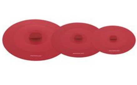 Rachael Ray 56802 Tools & Gadgets, Set of Three- Suction Lids, Red