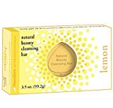 Natural Beauty Cleansing Bar, Lemon, 3.5 oz (99.2 g)