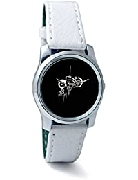 BigOwl Bike Is My Reality Women's Analog Wrist Watch 1293804536-RS2-S-WHT