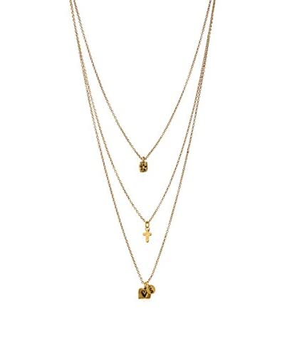 Alisa Michelle Layered Star Cross Lovers Necklace