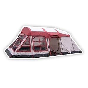 Tahoe Gear Glacier 14 Person 3-Season Family Cabin Camping Tent w  Rain Fly by Tahoe Gear