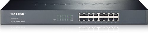 Tp-Link Tl-Sg1016 10/100/1000Mbps 16-Port Gigabit 19-Inch Rackmountable Switch, 32Gbps Capacity