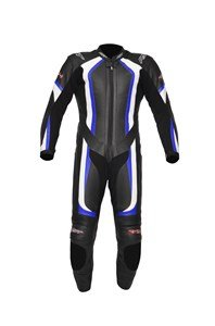 RST R-14 MOTORCYCLE MOTORBIKE LEATHER SUIT RACE TRACK ROAD ONE PIECE BLUE 44