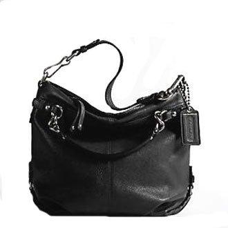Coach Brooke Leather Carly Shoulder Hobo Bag Purse Tote 14112 Black