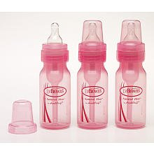 Dr. Brown'S Baby Bottle, 4 Ounce, 3-Count - Pink