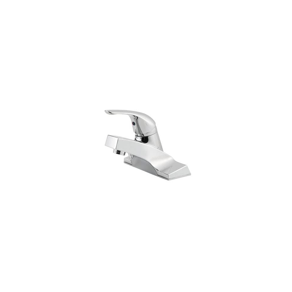 Price Pfister 142 00 Pfirst Series 4 Single Control Bathroom Faucet Finish / Pop up Drain Included Polished Chrome / No