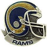 Metal Lapel Pin - National Football League - NFL Pin - St Louis Rams Helmet Star