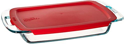 Pyrex Easy Grab 3-Quart Oblong Baking Dish (3 Qt Pyrex Lid compare prices)