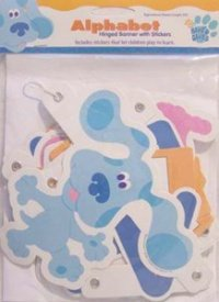 Blue's Clues Alphabet Hinged Banner with Stickers - 1