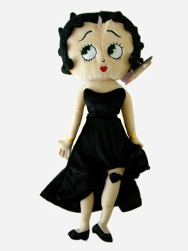 Betty Boop Plush Doll Stuffed Toy 17 inches Black - 1