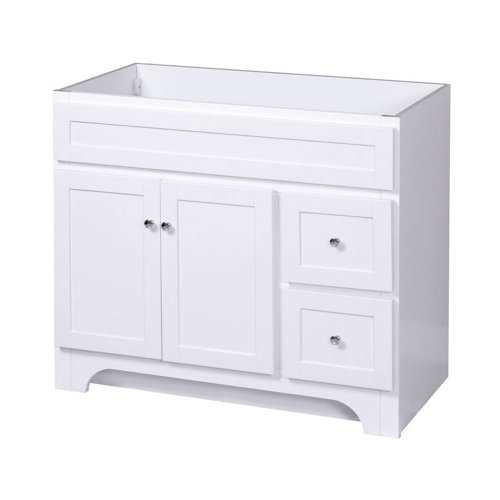 Foremost COWA3621D Columbia 36-Inch Bathroom Vanity, White