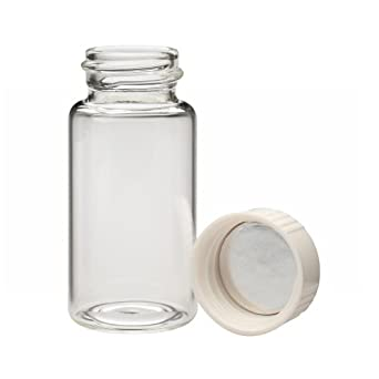 Wheaton Glass Liquid Scintillation Vial, with Urea Metal Foil Lined Screw Cap