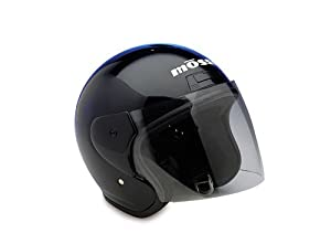 Raider Open Face Helmet (Black, X-Large) from Raider
