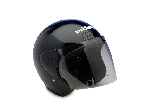 Mossi Black Medium Open Face Helmet